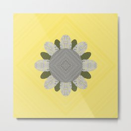 Embroidered Flower Pattern 3 Metal Print