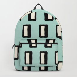 Chad Pattern mint green 2 Backpack