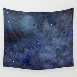 Night Sky Stars Galaxy | Watercolor Nebula Wall Tapestry