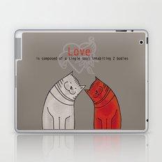 LOVE is a single soul in two bodies Laptop & iPad Skin