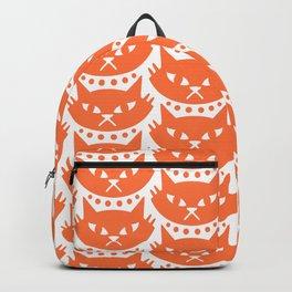 Mid Century Modern Cat Orange Backpack