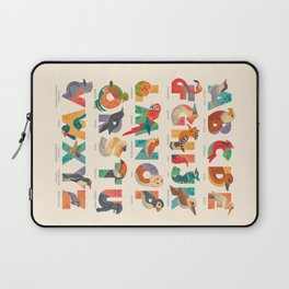 Aerialphabet (labelled) Laptop Sleeve