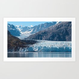 Deep Blue Glacier Art Print