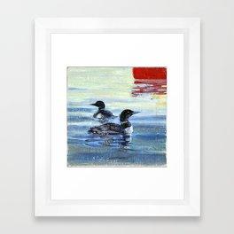 loons Framed Art Print