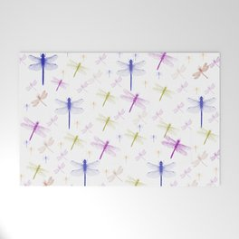 Dragonfly Pattern Welcome Mat