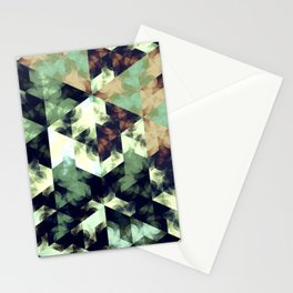 Green Hex Stationery Cards