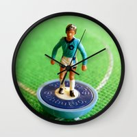 1989 Wall Clocks featuring Manchester City Subbuteo Player 1989 by Tabletop Legends
