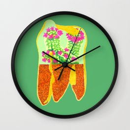 Tooth Terrarium 3 Wall Clock