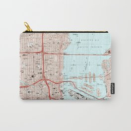 Miami Florida Map (1994) Carry-All Pouch