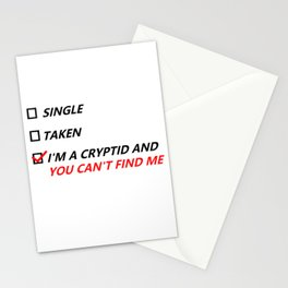 Single, Taken, Hidden Cryptid Stationery Cards