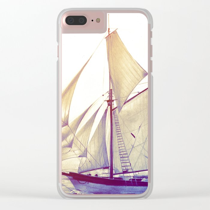 Afternoon Sail Clear iPhone Case
