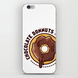 Chocolate donnuts iPhone Skin