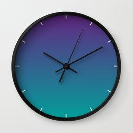 Ombre | Purple and Teal Wall Clock