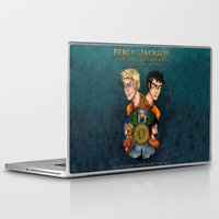 percy jackson Laptop & iPad Skins featuring Percy Jackson and the Olympians, The Last Olympian by Yuri Meister