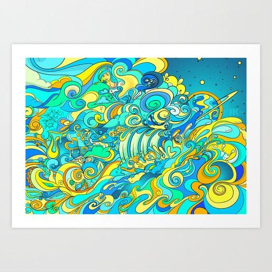 Cosmic Waterfall Art Print