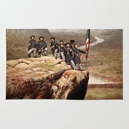 Union Soldiers On Lookout Mountain Rug