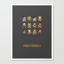 Mega Street Fighter II Canvas Print