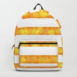 Golden Glitter Girly - Chic Stripes - Duvet Cover  Art - Decor - Magical Stripes Backpack