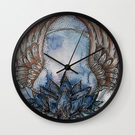 The Blue Lotus Wall Clock