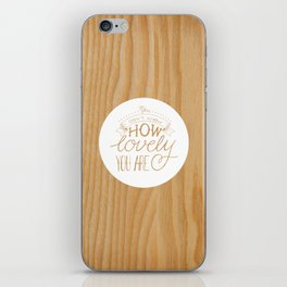 Lovely Lyric iPhone Skin