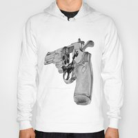 gun Hoodies featuring gun by VoicesRantOn