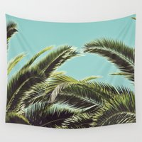 palms Wall Tapestries featuring Palms by Lawson Images