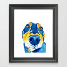 Sausage lover (sm) Framed Art Print