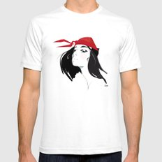 Elektra after Gruau White SMALL Mens Fitted Tee
