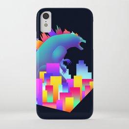 Neon city Godzilla iPhone Case