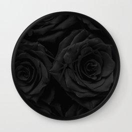 Coal Roses Wall Clock