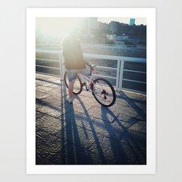 Ride my bike Art Print