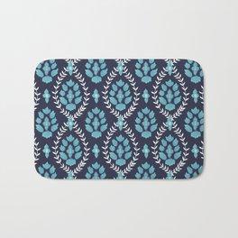 Blue Lotus in watercolor Bath Mat