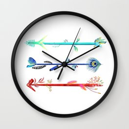 Feather arrows Wall Clock