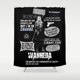 Clarke Griffin - Quotes The 100 Shower Curtain