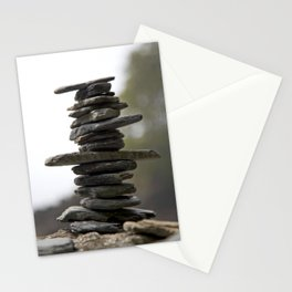 West Coast Inukshuk with Bokeh  #decor #society6 #buyart Stationery Cards