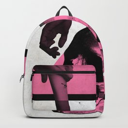 Death Mondrian in pink and black Backpack