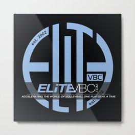 Elite Powder/Black w/ Badge Logo Metal Print