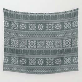 Knitted christmas pattern Wall Tapestry