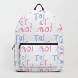 Toi et moi – Marriage, love, romantism,romantic,cute,beauty, tender, tenderness Backpack