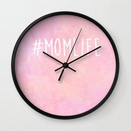 #Momlife - Pink Wall Clock