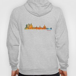Moscow City Skyline art HQ v2 Hoody
