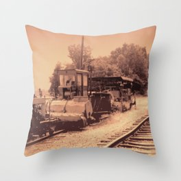 Old Railroad Relic II Throw Pillow