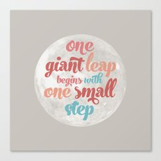 One giant leap Canvas Print