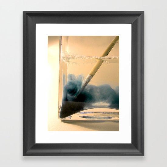Paint Brush Wash Up Framed Art Print