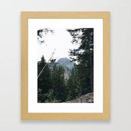 Peaking Mountain Framed Art Print