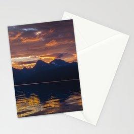 Sunrise Glacier National Park - Lake McDonald Stationery Cards
