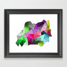 perfect colors in an imperfect configuration Framed Art Print