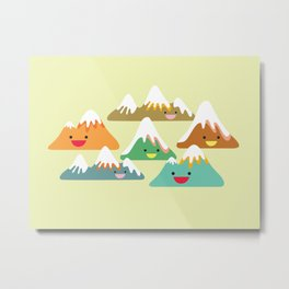 Mountain Friends Metal Print