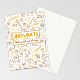 HOGWARTS School of Witchcraft and Wizardy Stationery Cards