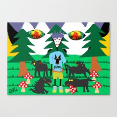 Bad trip in the park with the dogs high laughing at me  Canvas Print